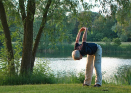 Rentner bei der Reha Kur