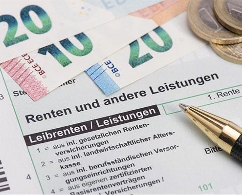Rente und Steuererklärung für Finanzamt